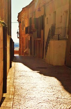 The small town of vasto adjacent to the adriatic sea. an absolutely beautiful town