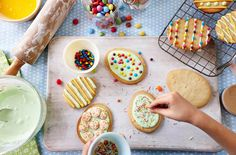 Get creative this Easter with these colourful egg biscuits. Cracking fun to make and delicious to eat!