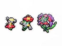 Pokemon X and Y Perler- Flabebe / Floette/ Florges by ShowMeYourBits on deviantART