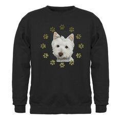 Cute Westie Dog and Paw Prints jumper
