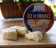 Camembert is a mild, creamy cheese that is slightly salty. http://www.cooksinfo.com/camembert-cheese