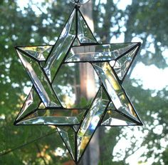 Glass Star of David.
