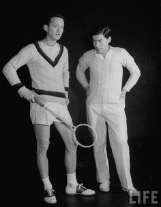 Playing squash in style.