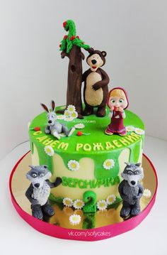 Торт Маша и Медведь) - Кондитерская - Babyblog.ru Birthday Cake Girls, 4th Birthday, Birthday Parties, Cakes Without Fondant, Masha And The Bear, Bear Cakes, Novelty Cakes, Themed Cakes, Diy Party