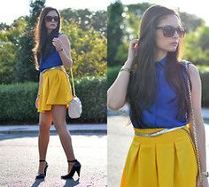 Romwe blouse and skirt.