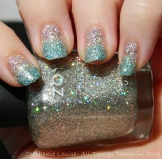 Zoya Spring 2014 Pixie Dust Gradient Holo Baby Shower Nail Art  via @Stephanie Close Close Close Louise ( All Things Beautiful)