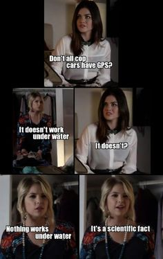 Pretty little liars Hanna Marin knows something about science all I can say is wow she surprised me 😋🤓 Pretty Little Liars Meme, Preety Little Liars, Pll Quotes, Pll Memes, Best Tv Shows, Best Shows Ever, Abc Family, Vampire Diaries, Friends