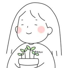 #Anh Simple Doodles, Cute Doodles, Korean Illustration, Illustration Art, Kawaii Drawings, Easy Drawings, Animes Wallpapers, Cute Wallpapers, Aesthetic Art