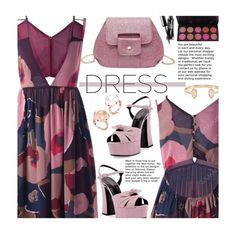 """""""So Pretty: Dreamy Dresses"""" by beebeely-look ❤ liked on Polyvore featuring Yves Saint Laurent, Pasquale Bruni, Kendra Scott, floralprint, sammydress, floraldress, under100 and dreamydresses"""