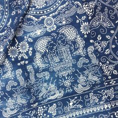 Vintage Chinese Textile that's extra wide. Just listed. Batik Couple, Death Cab For Cutie, Mood Indigo, Vintage Textiles, Blue Aesthetic, Blue Fabric, Textile Design, Printing On Fabric, Gap Men