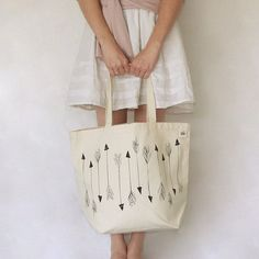 Arrows Recycled Cotton Canvas Tote