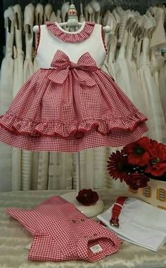 Girls Red Gingham Dress Baby Girl Dress Toddler by TootandPuddle Kids Frocks, Frocks For Girls, Little Dresses, Little Girl Dresses, Girls Dresses, Frock Patterns, Girl Dress Patterns, Toddler Dress, Baby Dress