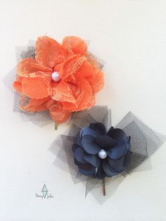 Custom Flower Girl Hair Pins by Penny Jules