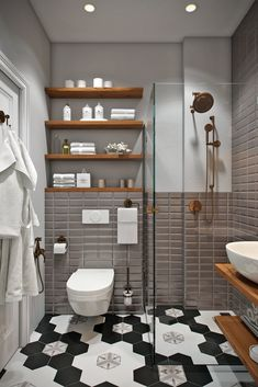 Bathroom Design Small, Bathroom Interior Design, Kitchen Interior, Ikea Small Spaces, Folding Furniture, Interior Design Inspiration, Bathroom Inspiration, Tile Art, Tiles