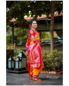 Nauvari Saree, Sari, Medium, Link, Instagram, Fashion, Saree, Moda, Fashion Styles