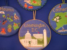 State Ornaments needlepoint from Silver Needle