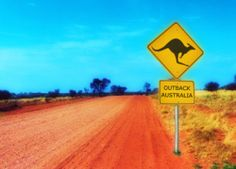 Outback, Australia.  I never got a picture of these awesome signs, but they were everywhere.  The kangaroos run out into the street at night into oncoming traffic just like deer.