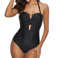 Wow picks! Aileen - Crossed Swimsuit at $64.90 Choose your wows. 🐕 One Shoulder Swimsuit, Push Up Swimsuit, Bandeau Swimsuit, Monokini Swimsuits, Black Swimsuit, Sexy Bikini, Tummy Control Bathing Suits, Hommes Sexy, Women's One Piece Swimsuits