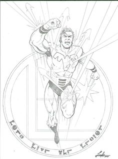 Ultra Boy of the Legion of Super-Heroes by Mike Leeke #UltraBoy #JoNah #Rimbor #LoSH #LegionofSuperHeroes #MikeLeeke