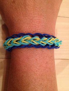 "My ""teardrop"" Rainbow Loom bracelet."
