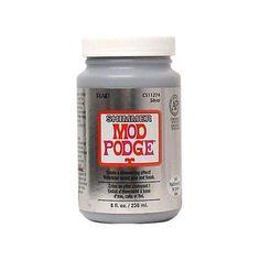 Plaid Mod Podge Shimmer Metallic Slvr 8oz, Multicolor