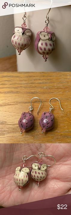 Purple Owl Earrings These owls are so awesome! So cute! They are accented with Swarovski crystals. Jewelry Earrings