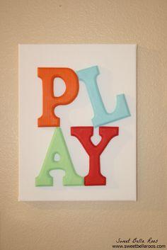 DIY Play Room Decor #diy