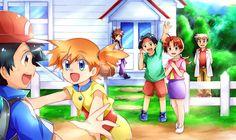 Pokemon Show, Pokemon Manga, Pokemon Alola, Pokemon People, Pokemon Fan Art, Cool Pokemon, Pokemon Stuff, Pokemon Ash And Misty, Pokemon Ash And Serena