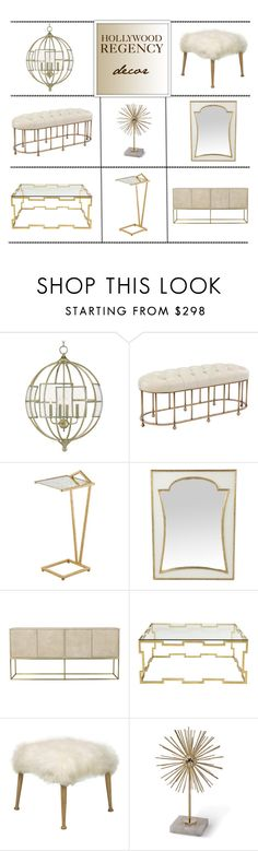 """""""Hollywood Regency Decor"""" by kathykuohome ❤ liked on Polyvore featuring interior, interiors, interior design, home, home decor, interior decorating, GALA, homedecor, golddecor and hollywoodregency"""