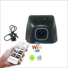 For Honda INSIGHT Car Wifi DVR DashCam Novatek 96655 Dual lens wide angle Car Black Box hidden installation Night vision