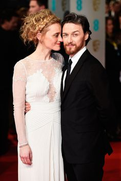 Like James McAvoy and Anne-Marie Duff, for example. She was far more interested in nuzzling against his cheek than posing for the cameras. | 13 Ridiculously Cute Photos Of Celebrity Couples At The BAFTAs