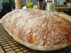 Food Wishes Video Recipes: No-Knead Ciabatta - Bread You Can Believe In  This is rising on my counter right now, waiting for me to bake it tomorrow!!