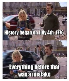 See. 29 Patriotic Memes And Things To Celebrate America's Birthday Parks N Rec, Parks And Recreation, Independence Day Meme, 4th Of July Meme, July 4th, Cool Pictures, Funny Pictures, Birthday Quotes For Me, Happy Birthday