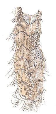 Flapper dress. Roaring '20s style. #celebstylewed