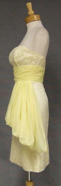 Vintageous, LLC - Lemon Meringue Strapless Bombshell Vintage Cocktail Dress, $175.00 (http://www.vintageous.com/lemon-meringue-strapless-bombshell-vintage-cocktail-dress/)