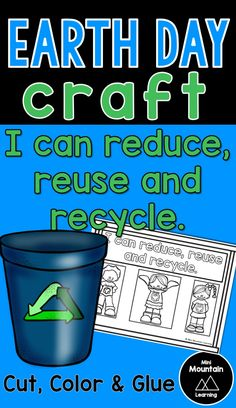 Earth day craft/ Earth day activity for kids/ Earth day activity for elementary/ Reduce, Reuse, Recycle Earth Craft, Earth Day Crafts, Reduce Reuse, Reuse Recycle, Fathers Day Crafts, Valentine Day Crafts, Winter Crafts For Kids, Summer Crafts, Earth Day Activities