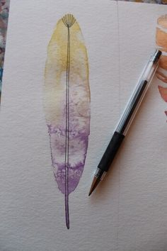 Federn malen: Schritt für Schritt Tutorial Moth, Insects, Mixed Media, Watercolor, Tattoos, Painting, Animals, Happy, Watercolor Painting