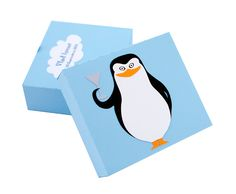 Marturie Botez Madagascar - The Penguins Baby Shower Favors, Baby Shower Invitations, Penguins Of Madagascar, Creative Art, Place Cards, Logos, Model, Handmade Baby, Babyshower
