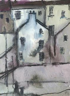 Gillian Lee Smith, Harbour Houses #3 - small original painting
