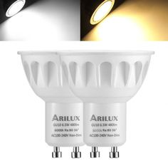 1X 5X 10X ARILUX GU10 6.5W 2835 SMD 480LM Non-Dimmable LED Spotlight Indoor Lamp Bulb AC100-240V  Specification: Base Type:GU10 Voltage:AC100-240V Wattage:6.5W LED Type:2835 Light Color:Warm white(6000K) Pure White(3000K) Lumen:480LM Beam Angle:36 Is Dimmable:No Material:Aluminum Dimension:5055mm Warranty:2 Years Feature: Easy Installation: Standard GU10 base.Installs into existing GU10 base LED fixtures directly. Great GU10 Replacement: This GU10 LED bulbs are the same GU10 base as a…