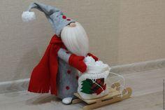 Купить Новогодний гном Свен - серый, новогодний подарок, гном, новогодний сувенир, новогодний декор