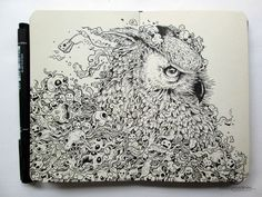Kerby Rosanes: Doodle Animal Kingdom Owl