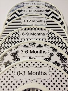 Black White Shabby Chic Nursery Closet Dividers
