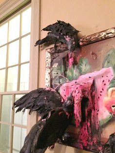 Still Life with Watermelon, Peaches and Crows Valerie Hegarty
