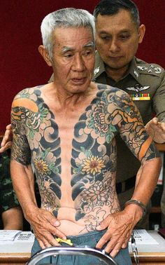 Shigeharu Shirai was arrested during a shopping trip on Wednesday tattoo Missing Japanese mafia boss arrested after tattoos go viral Yakuza Style Tattoo, Tattoo Mafia, Irezumi Tattoos, Asian Tattoos, New Tattoos, Small Tattoos, Body Tattoos, Japanese Tattoo Art, Japanese Sleeve Tattoos