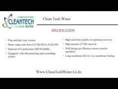 Clean water turns out to be the finest sewage treatment and reverse osmosis plant manufacturers in town. Now with the help of high-pressure pumps removing a large amount of contaminants becomes easy. http://goo.gl/6gP5tQ