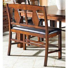 Greyson Living Lansing Burnished Medium Oak Counter-height Dining Bench