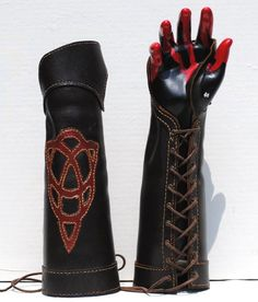 For the archers.... Celtic Bracer half Gauntlets by Random Thoughts US on Etsy.