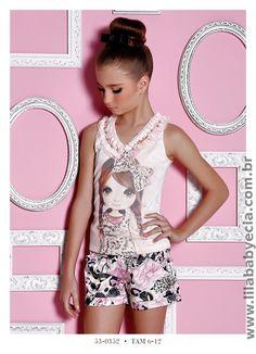Blusa Infantil e shorts Miss Cake Doce Princesa 530352