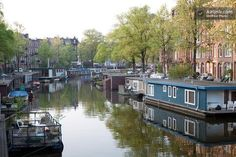 This two-level Amsterdam houseboat is farther from the center, but a comparative bargain at $139 per night. Description from businessinsider.com. I searched for this on bing.com/images